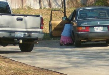 Sexy Neighbor Washing Car