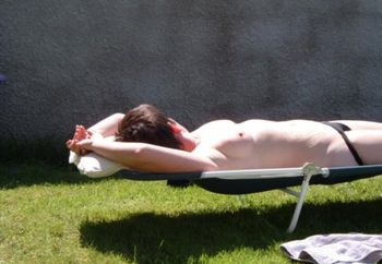 Wife Sunbathing