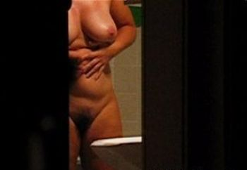Voyeured In The Bathroom After Shower / Part 1