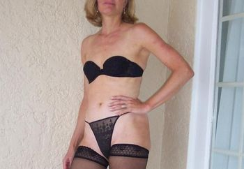 Tall Blonde Milf In Black