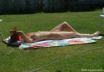 Sunbathing Milf