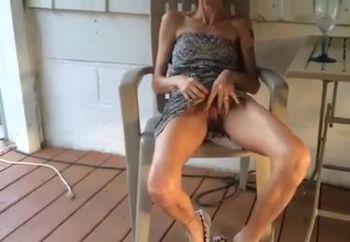 skinny wife lifting her dress