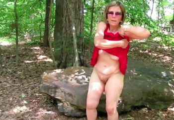 Mature Nude Female SS Hot In Red