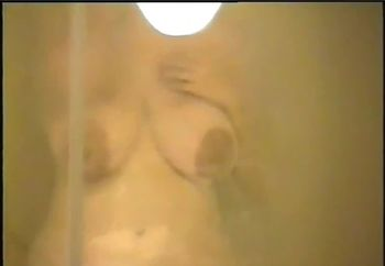 big saggy boobs spy cam in shower