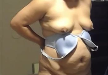 bbw wife getting dressed unaware