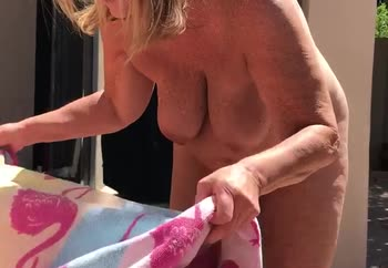 Getting ready to Tan Naked