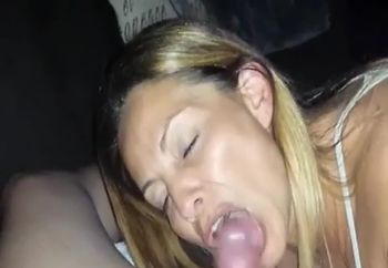 pretty girl gives amazing blowjob