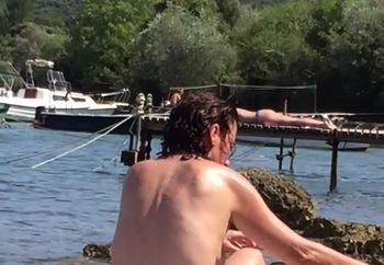 Nude at  seaside