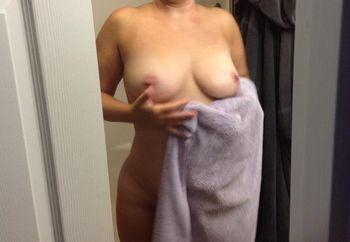 My wife flashing me
