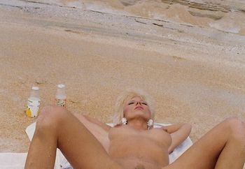creampie on the beach