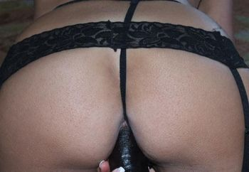 Black Lingerie And Black  Toy