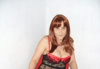 Naughty In Red & Black Negligee