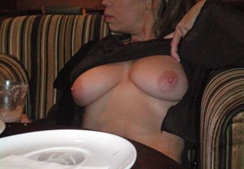 Flashing In Coffee Shop