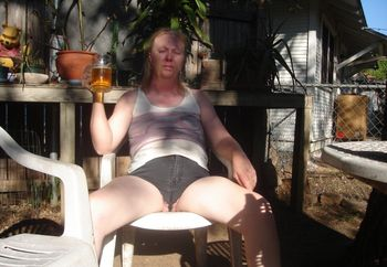 Milf@52 Outside In My Short Shorts
