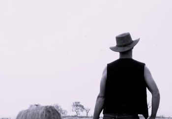 Cowboy's backside